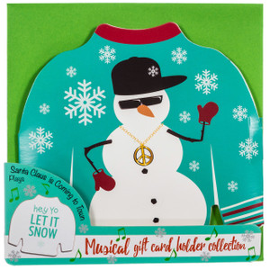 Musical gift card holder - snowman
