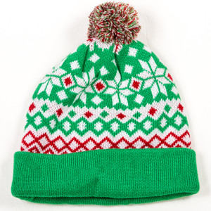 Green Fair Isle Toque