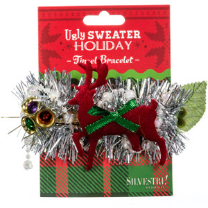 Ugly Holiday Tinsel Bracelet  reindeer package