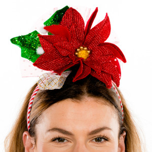 Festive Poinsettia Headband