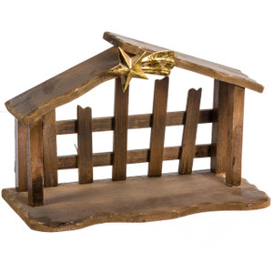 Stable Creche with Gold Star