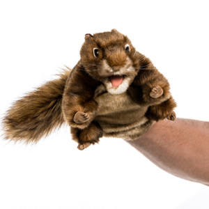 Christmas Vacation's Attacking Squirrel hand
