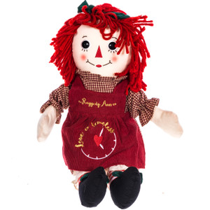 "16"" Love is Timely Raggedy Ann Doll"