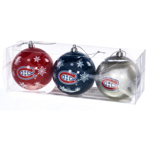 Montreal Canadians Ornaments (Set of 3)