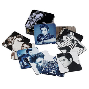 Elvis Presley Coaster Set with Tin Storage Box