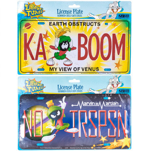 Marvin the Martian License Plate both