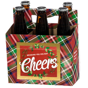 Holiday Plaid 6 Pack Beer Carrier full
