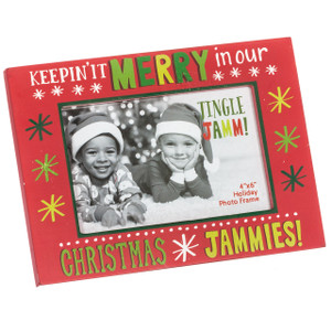 Festive Christmas Jammies Photo Frame