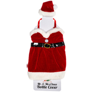 Mrs. Claus Wine Bottle Cover
