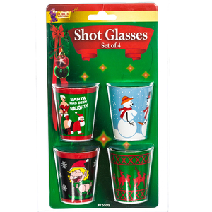 X Rated Christmas Shot Glasses