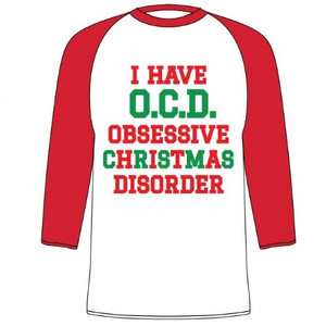 Obsessive Christmas Disorder Raglan-Style 3/4 T-Shirt