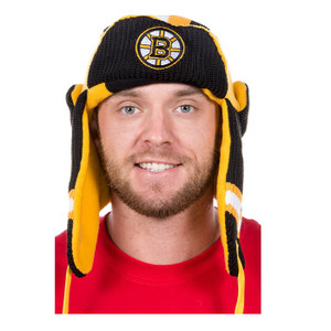 Boston Bruins NHL Reversible Trapper Hat 2