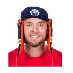 Edmonton Oilers NHL Reversible Trapper Hat 2