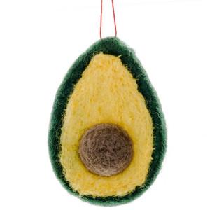 Felt Avocado Ornament