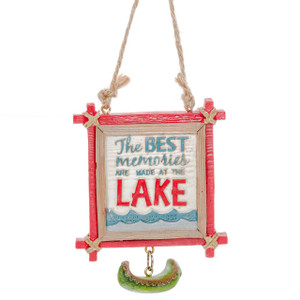 The Best Memories are Made at the Lake Ornament