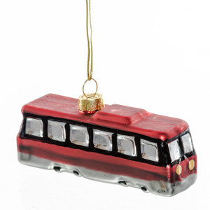 Toronto Streetcar Glass Ornament