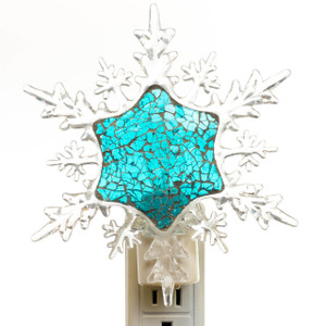 Mosaic Snowflake Night Light