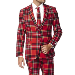 Lumberjack Plaid Christmas Suit - Close