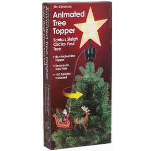 Santa Sled Animated Tree Topper package