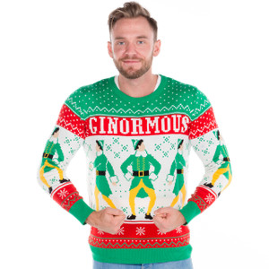Elf Ginormous Sweater on Him