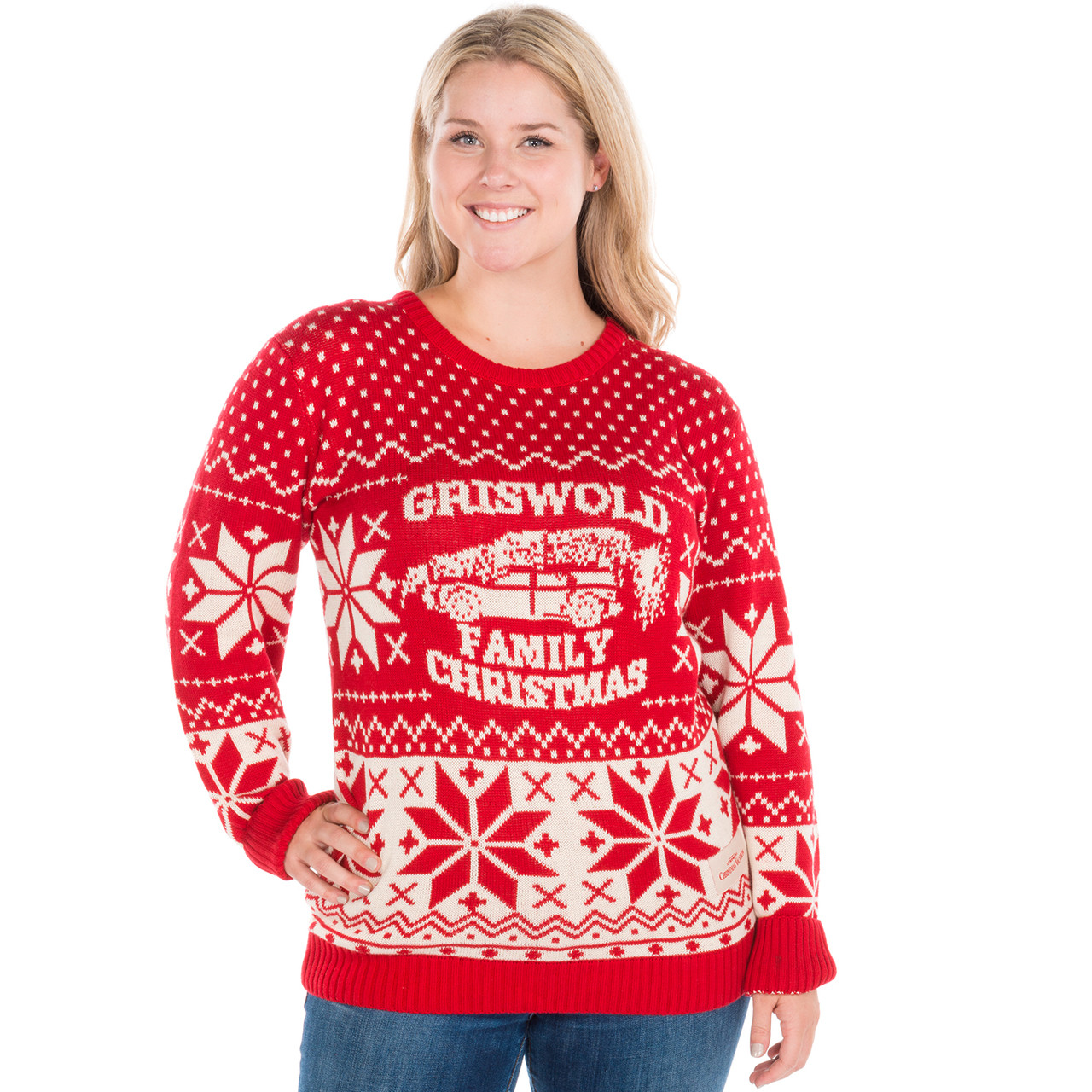 christmas sweater with lights on it