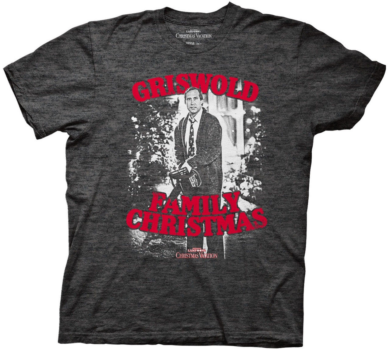 Clark Griswold With Chainsaw Christmas Vacation T Shirt