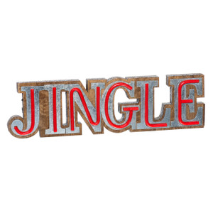 Lighted Faux Neon JINGLE Sign