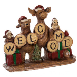Canadiana Welcome Festive Figure