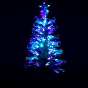 3' White Fibre Optic Tree blue