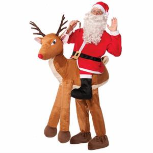 Santa Rides A Deer Costume