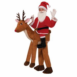 Santa Rides A Reindeer Costume (Kids)