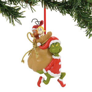 Santa Grinch and his Stowaways Ornament