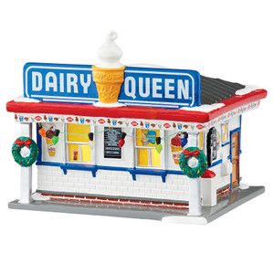 Department 56 Dairy Queen Original Snow Village Building
