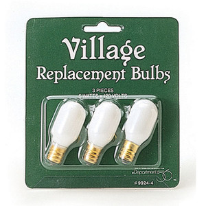 Department 56 Village Accessories Pack of 3 Replacement Bulbs