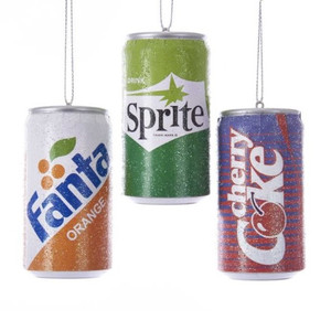 Retro Soda Can Ornaments