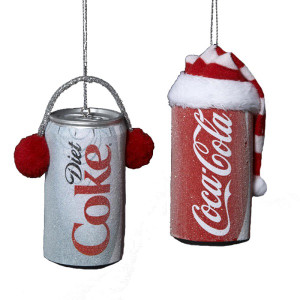 Festive Coca Cola Can Christmas Ornaments