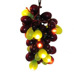 Green and Burgundy Grape Light Set