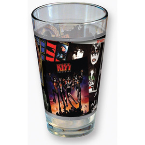 KISS Album Covers Collage Full Colour Wrap Pint