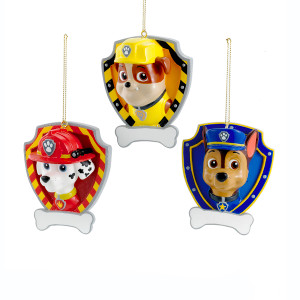 Paw Patrol Personalized Shield Ornament
