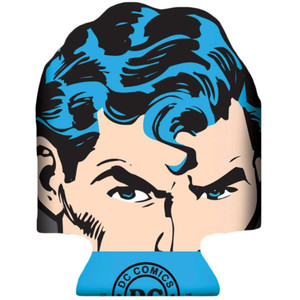 DC Comics Superman Diecut Face Can Cooler Front View