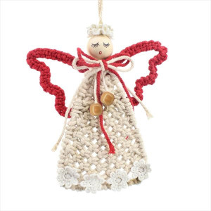 Macrame Angel Ornament