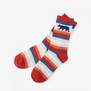 Hatley Cute Stripe Bear Women's Crew Socks