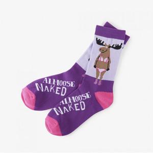 Hatley Almoose Naked Women's Crew Socks