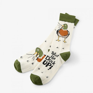 Hatley Shut The Duck Up Men's Crew Sock