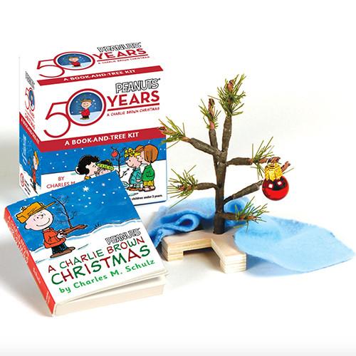 A charlie brown christmas book charlie brown christmas tree charlie brown christmas tree and book kit voltagebd Choice Image