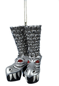 Give the Old Man Winter the BOOT with these awesome KISS ornaments!