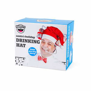 Santa's Holiday Drinking Hat