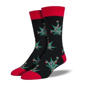 Pot Lovers Christmas Men's Crew Socks