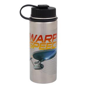Star Trek Warp Speed 18 oz Stainless Steel Water Bottle Front View