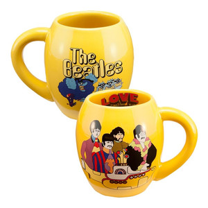 The Beatles Yellow Submarine Oval Mug Duel View
